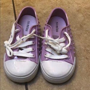 Used Mini Melissa Girls Sneaker size 10